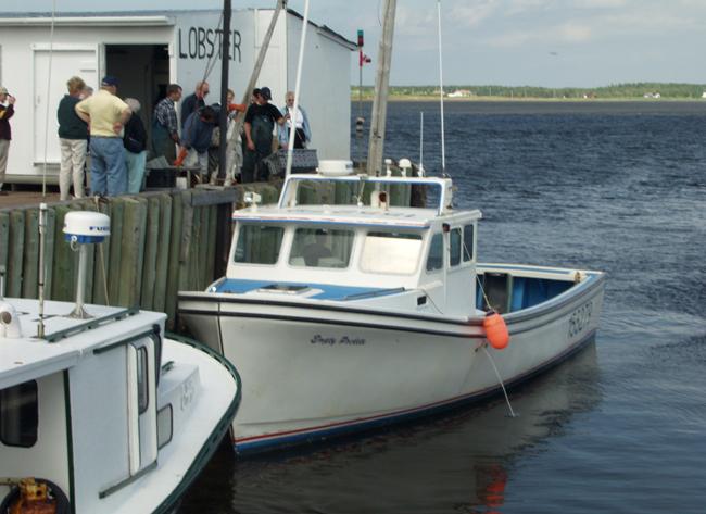 Lobster Pier Fishing Boat