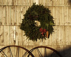 Christmas Wreath on wall